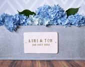 Personalized Wedding Gift - Large Rectangular Zinc Planter with Name and Wedding Date