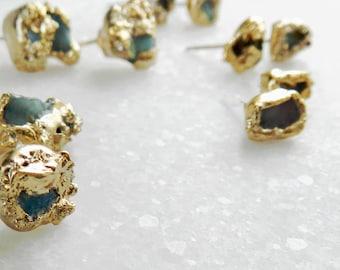 ON SALE, fire opal stud, opal studs, fire opal earrings, druzy earrings, druzy studs, gold studs, raw fire opal, druzy gold, gold filled