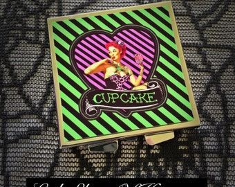Cupcake Zombie compact mirror