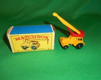 One (1), No. 11 Matchbox, Taylor, Jumbo Crane, from Lesney.