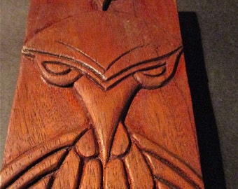 Vintage Carved Board Of Fanciful Bird Creatures And More