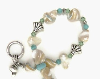 Pearl Bracelet Beach wedding jewelry white bracelet Mother of the bride fashion jewelry beach bracelet unique handmade jewelry summer