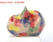 Miniature ceramic sculpture - desk accessory   Miniature sculpture of a head