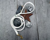Repurposed Lobster Rope Leash. Handmade OOAK Salvaged Nautical Dog Leash. 2 dollars donated for every purchase!