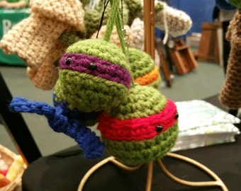 Set of 2 Ninja Turtle Ornaments Made to Order.