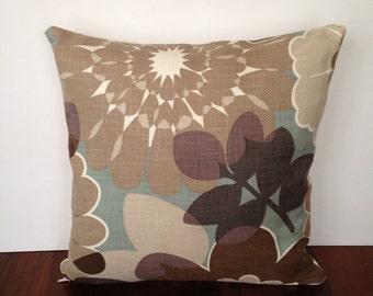 Flower print pillow cover