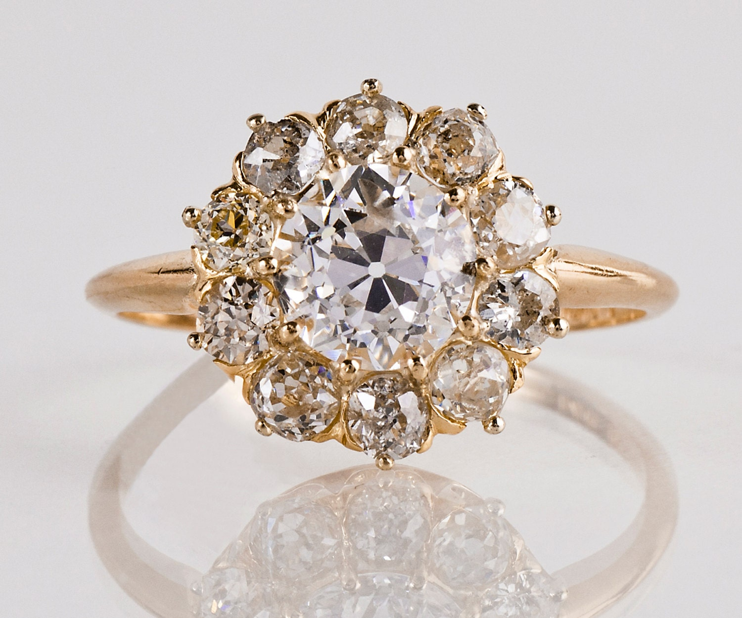 Antique Engagement Ring Antique Victorian 14K Yellow Gold