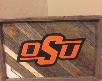 OSU Reclaimed Wood Hanger