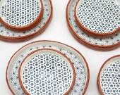 Tapas Plates - Set of 2 Ceramic Plates - Pottery Plates - Rustic Plates - Plates