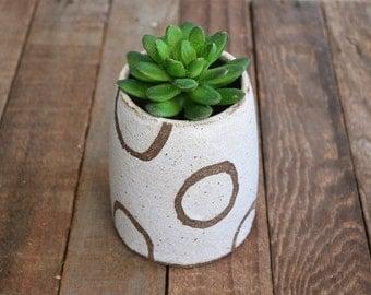 Pottery Planter - Stoneware Planter - Rustic Planter - Ceramic Planter