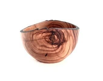 Wood Bowl No.160607-Natural Edge Carboncillo Wood