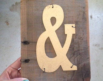 Ampersand - Reclaimed Wood Sign