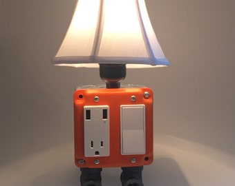 USB Charger/Lamp - Tangerine