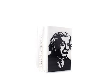 One Decorative  bookend // Einstein // modern functional decor for the smartest books // FREE SHIPPING // perfect housewarming gift