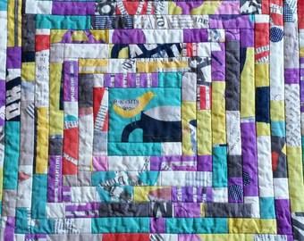 No. 16 String Quilt, Quilting Arts Bird Miniature Quilt