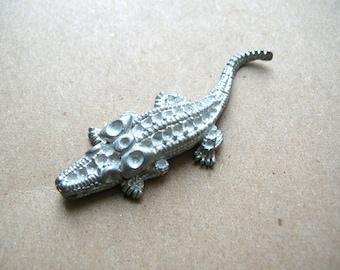 Vintage Rhinestone Alligator Blank - Signed Rhinestone Alligator - Lizard Findings - Reptile