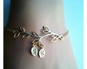 Rose Gold Bracelet, Family Tree Bracelet, Personalized Bracelet for Mom, Family Tree Jewelry, Mothers Day from Daughter Son Husband GIFT