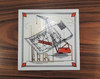 Pilkington Tile Trivet, Made in England, Architect Gift, Engineer Gift, Builder Gift, Mid Century Tile Trivet, Deco, Decorative Tile Trivet