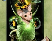 Sphynx Cat Fine Art Canvas Print - Alien Movie Poster NEW COLLECTION