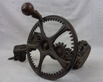 Antique Apple Peeler, Patented Cast Iron Peeler