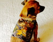Small Dog Harness Autumn Print Dog Vest Custom Order to Fit Shih Tzu or Yorkie Size Autumn Colors Fall Foliage Print Cotton