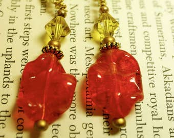 009 Red Flame Earrings