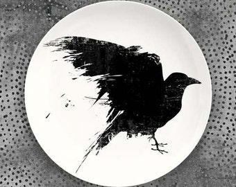 Raven melamine plate