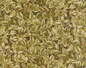 Renaissance Olive Leaves Fat Quarter Fabric Material (F953-3)