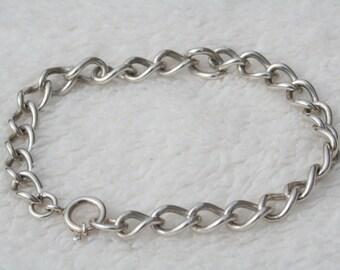 FREE SHIPPING Vintage Sterling Silver Hallmarked Ladies Bracelet