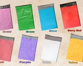 100 -6x9 Flat Poly Mailers ~All 8 Color Combo, Low Density Flat Poly Mailers, Tamper Resistant Self-Sealing Shipping Mailers