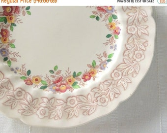 "On Sale Vintage Royal Doulton Rhapsody Dinner Plate Multi Color Transferware 10"", Serving, Wall Decor, English Transferware"