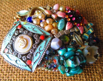 Handmade Vintage Jewelry Belt Buckle