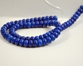 "Smooth Blue lapis Abacus Beads Rondelle Gemstone Beads --10mm --  Lapis Gemstone Beads---- 15.5"" length"