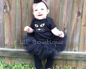 cat halloween costume cat tutu cat shirt cat costume black cat - Baby Cat Halloween Costume