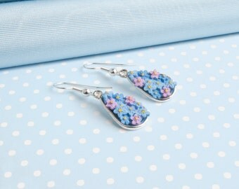 Forget me Not Dropper Earring