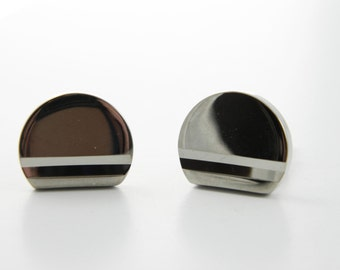 Silver Dome Cuff Links - CL020