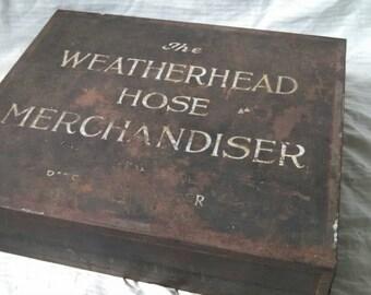 Weatherhead hose merchandiser , antique Automotive advertising , gas and oil , Ford , Oldsmobile , Chrysler , Studebaker ,  Hudson , De Soto