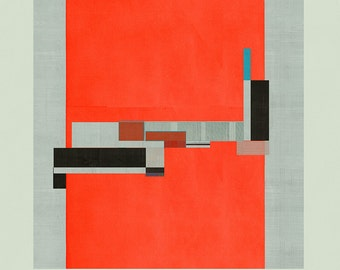 Abstract composition 868 - contemporary art - abstract geometric - 100 x 100 cm - Limited edition