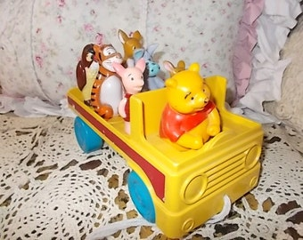 Winnie The Pooh, Walt Disney Winnie the Pooh and Friends Pull Toy Truck,Vintage Toys,Toys,Preschool Toys,Vintage Preschool Toys,  :) S
