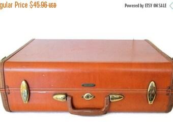 Vintage Samsonite Luggage Schwayder Denver Suitcase Hardside Brown Leather