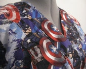 Captain America Power scrub top