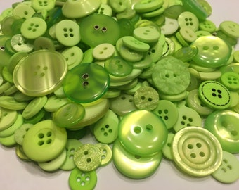 30 piece assorted lime green acrylic button mix, 10-28 mm (34)