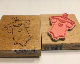 LARGE Baby outfit Rubber Stamp, 55 mm (A11/5)