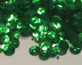 bag of kelly green sequins, 5 mm (21)