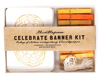 Celebrate - Letterpress DIY Banner Kit