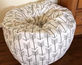 Arrow Bean Bag, Floor Pillow, Bean Bag Chair, cover only