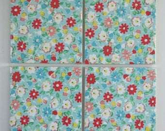 Coasters in Cath Kidston Meadow Ditsy