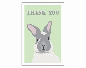 Bunny Thank You Post Card