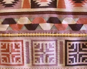 XLG Vintage Southwestern Wool Wall Hanging, Southwestern, Wool, Wall Hanging, Ethnic, Mexican, Aztec, Brown, Lilac, Pink, Modern, Decor