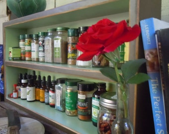 Kitchen Spice Rack-Rustic Large Free Standing Spice Rack - Made with Reclaimed Materials